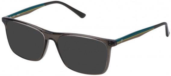 Fila VF9140 sunglasses in Shiny Transparent Grey