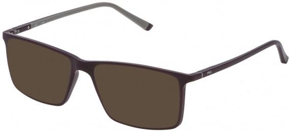 Fila VF9114 sunglasses in Semi Matt Full Bordeaux