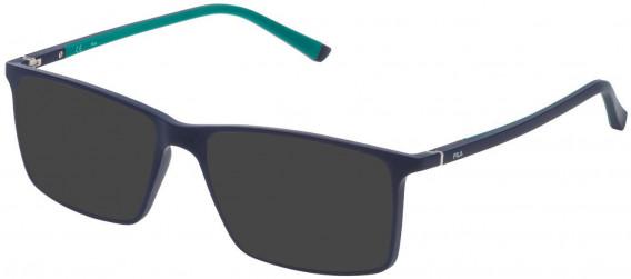 Fila VF9114 sunglasses in Matt Full Blue