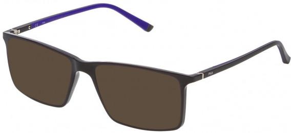Fila VF9114 sunglasses in Shiny Full Brown