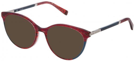 Escada VESA09 sunglasses in Shiny Striped Violet/Red