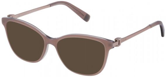 Escada VESA05T sunglasses in Shiny Metallized Dove Grey Top/Grey