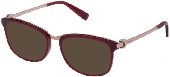 Escada VES943T sunglasses in Shiny Full Bordeaux