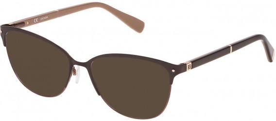 Escada VES903N sunglasses in Semi Matt Satin Bronze/Shiny Full Brown