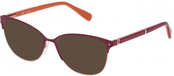 Escada VES903N sunglasses in Semi Matt Satin Copper/Shiny Full Raspberry