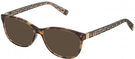 Escada VES471 sunglasses in Shiny Mimetic Camouflage Green/Brown