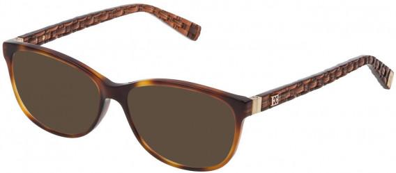 Escada VES471 sunglasses in Shiny Dark Havana