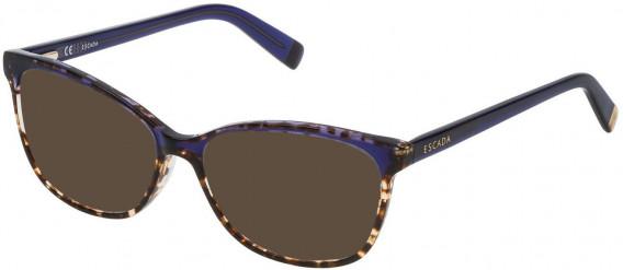 Escada VES463N sunglasses in Shiny Havana/Blue