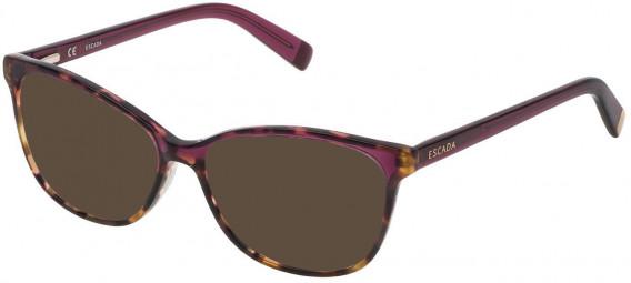 Escada VES463N sunglasses in Shiny Mimetic Camouflage Green/Brown