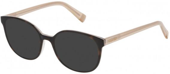 Escada VES452 sunglasses in Shiny Dark Havana/Pearly Beige