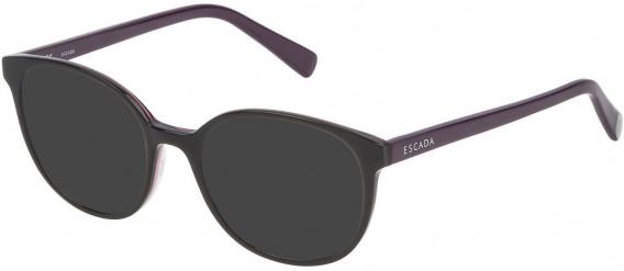 Escada VES452 sunglasses in Shiny Brown Top/Grey/Smoke