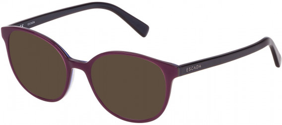 Escada VES452 sunglasses in Shiny Violet Top/Grey/Blue/Azure