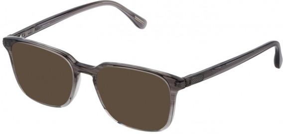 Dunhill VDH187M sunglasses in Gradient Striped Black/Grey