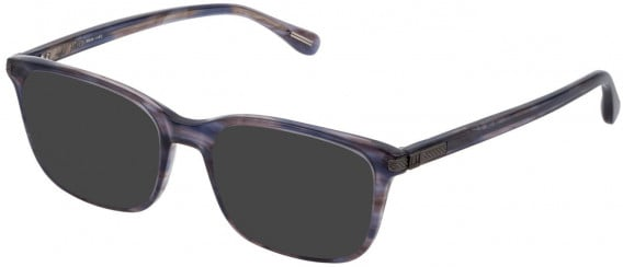 Dunhill VDH185M sunglasses in Shiny Striped Blue