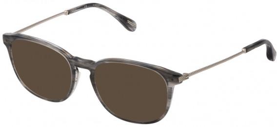 Dunhill VDH181M sunglasses in Shiny Striped Bordeaux