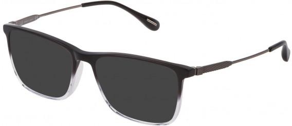 Dunhill VDH169G sunglasses in Shiny Black/Grey Gradient Crystal