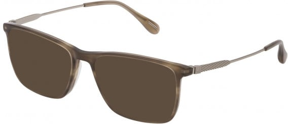 Dunhill VDH169G sunglasses in Shiny Striped Beige