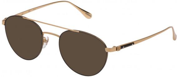 Dunhill VDH167G sunglasses in Rose Gold/Black