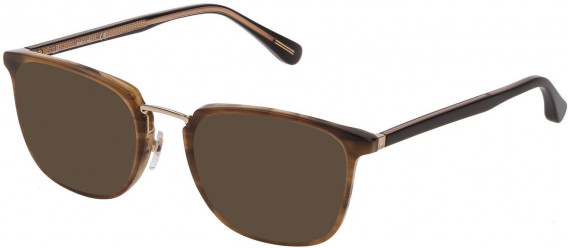 Dunhill VDH163 sunglasses in Shiny Striped Brown