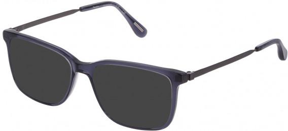 Dunhill VDH161M sunglasses in Shiny Transparent Blue