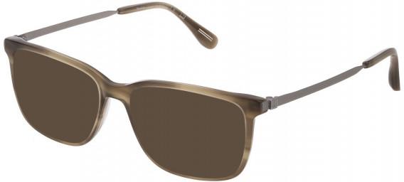 Dunhill VDH161M sunglasses in Shiny Striped Beige