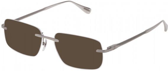 Dunhill VDH158 sunglasses in Shiny Full Palladium