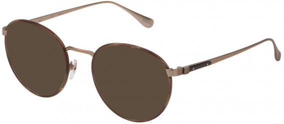 Dunhill VDH152M sunglasses in Semi Matt Grey Gold