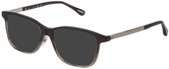 Dunhill VDH146G sunglasses in Shiny Dark Grey Gradient Light Grey