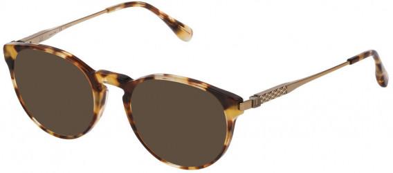 Dunhill VDH144 sunglasses in Shiny Light Yellow Havana