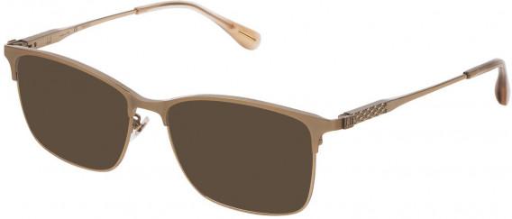 Dunhill VDH143G sunglasses in Semi Matt Grey Gold