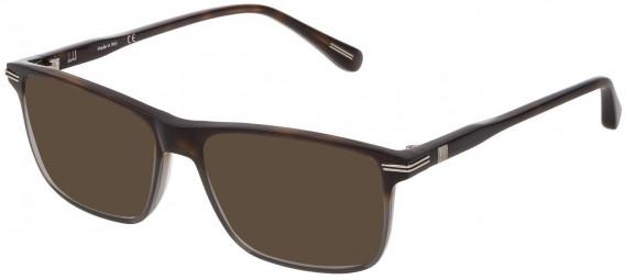 Dunhill VDH142 sunglasses in Pattern Light Havana/Grey
