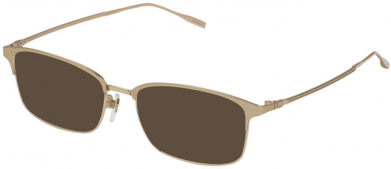 Dunhill VDH122 sunglasses in Shiny Grey Gold