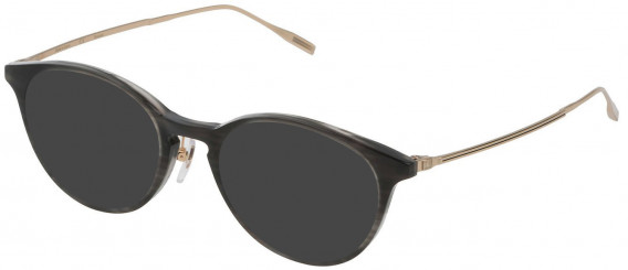 Dunhill VDH120G sunglasses in Striped Black/Crystal
