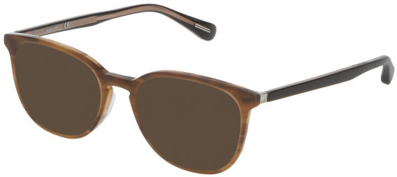 Dunhill VDH119 sunglasses in Shiny Striped Brown