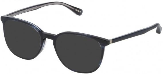 Dunhill VDH119 sunglasses in Shiny Striped Blue