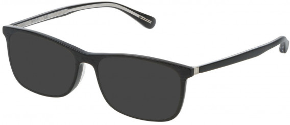 Dunhill VDH118G sunglasses in Shiny Grey Carbon Fibre