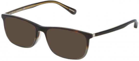 Dunhill VDH118G sunglasses in Pattern Light Havana/Grey
