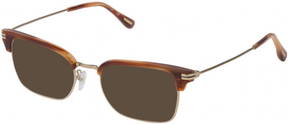 Dunhill VDH117 sunglasses in Shiny Grey Gold