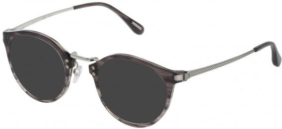 Dunhill VDH114G sunglasses in Gradient Striped Black/Grey
