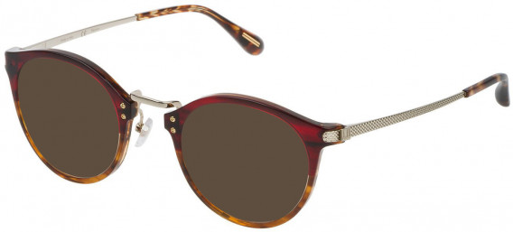 Dunhill VDH114G sunglasses in Shiny Red Gradient Beige