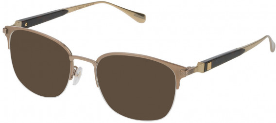Dunhill VDH113M sunglasses in Shiny Grey Gold