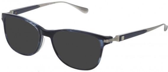 Dunhill VDH111G sunglasses in Shiny Striped Blue