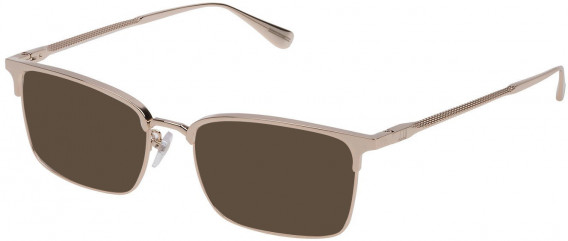 Dunhill VDH086M sunglasses in Shiny Grey Gold
