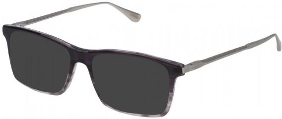 Dunhill VDH085 sunglasses in Gradient Striped Black/Grey
