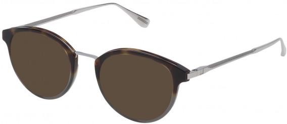 Dunhill VDH084 sunglasses in Pattern Light Havana/Grey