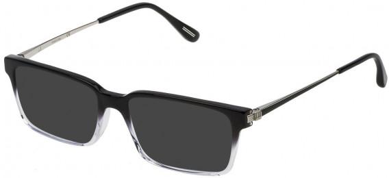 Dunhill VDH078 sunglasses in Shiny Black/Grey Gradient Crystal