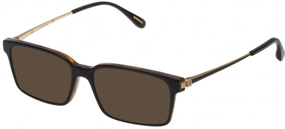 Dunhill VDH078 sunglasses in Shiny Black Top/Havana