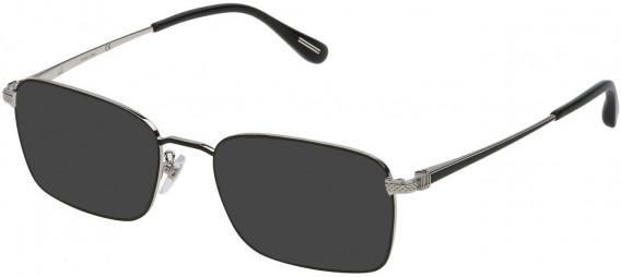 Dunhill VDH077 sunglasses in Palladium/Shiny Black