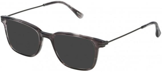Dunhill VDH073 sunglasses in Shiny Striped Grey
