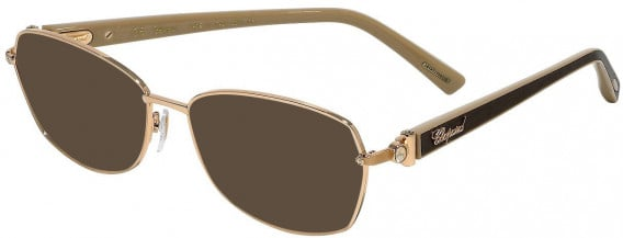 Chopard VCHD14S sunglasses in Shiny Copper Gold